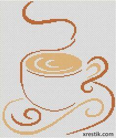 Kofe----18300 Схема для вышивки scheme for cross stitch Cross Stitching, Cross Stitch Embroidery, Embroidery Patterns, Cross Stitch Patterns, Shadow Art, Thread Art, Drinking Tea, Making Ideas, Coffee Cups