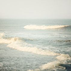 Ocean Wave Photograph, Sea, Nautical, Summer, Nature Photography, Minimal, Simple, Blue - The Sound of Waves. $30.00, via Etsy.