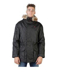 Geographical norway - giubbotto uomo con cappuccio ed eco - pelliccia rimovibile - esterno 100% poliammide, rivestimento - Giacca uomo  Nero