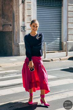 Milan Fashion Week& Best Street Style Looks - Ciao Bella ! The Best Looks Of Milan Style Street Fashion Week Cool Street Fashion, Street Chic, Street Wear, Street Style Looks, Looks Style, Fashion 2020, Fashion News, Milan Fashion, Women's Fashion