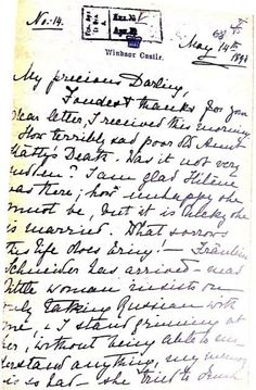 Letter from Alix to Nicky 14 May 1894 ~ sent from Windsor Castle