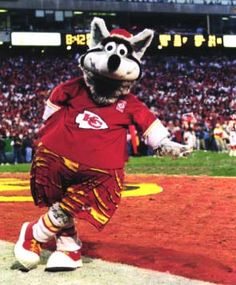 Kansas City Chiefs Mascot - KC Wolf- so ready for some football!!!