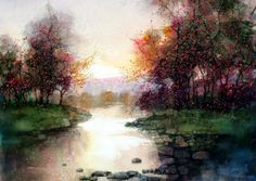 Beautiful Watercolor Landscape