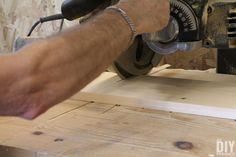 Cut boards to size with a table saw.