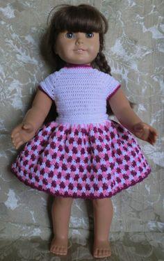 191 Skirt & Leotard Set Crochet Pattern for von barbsdolls