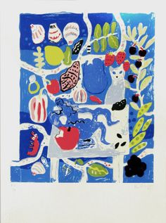 Bella Foster, Italian Dinner (With Sesame), 2012; 6 color serigraph  20 x 15 inches; edition of 100; $150