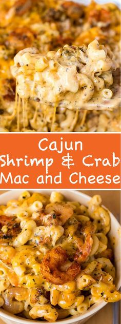 This Cajun Shrimp and Crab Mac and Cheese is super creamy, cheesy and decadent. This delicious spin to the classic dish will surely be your new favourite! food recipes Cajun Shrimp and Crab Mac and Cheese Cheese Recipes, Fish Recipes, Seafood Recipes, Pasta Recipes, Healthy Recipes, Cajun Shrimp Recipes, Easy Cajun Recipes, Shrimp Dinner Recipes, Cajun Shrimp Pasta