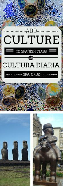 "Are you looking for ways to add culture to your Spanish class?   Are you passionate about Hispanic culture and want to share that passion with your students?  Do you value the importance of teaching culture but are unsure of how to ""fit"" it into your alre"