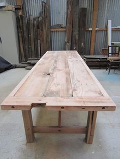 work bench dining table - Google Search