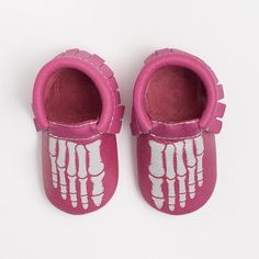 I am in love with this pair of Baby Girl Mrs. Bones Moccasins! Just in time for Halloween!!