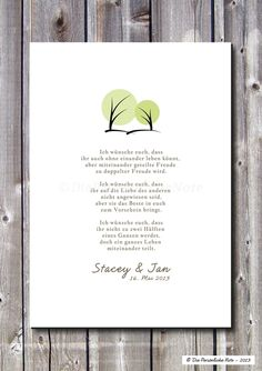 Wanddeko - Druck/Wandbild/Print: Segenswunsch (Hochzeit) - ein Designerstück von DiePersoenlicheNote bei DaWanda