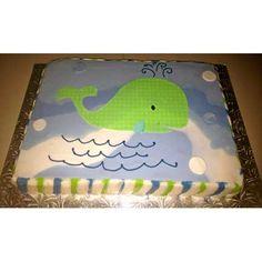 Sweet baby whale cake