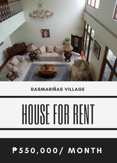 For Rent:  6BR House - Dasmariñas Village Makati City Land Area: 1300 Sqm Property Size: 2500 Sqm Fully Furnished Parking: 6 550000/ Month  http://ift.tt/2uEWZJI
