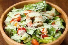 Shrimp Salad With Creamy Avocado Dressing Recipe by Tasty - Rezepte Tasty Videos, Food Videos, Creamy Avocado Dressing, Fresh Avocado, Fresh Dill, Ripe Avocado, Fresh Basil, Shrimp Salad Recipes, Salad With Shrimp