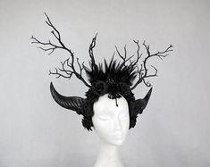 Gothic Burlesque & Fantasy feather accessories for von xSwanSongx Larp, Gothic Accessories, Fantasy, Nymph, Alternative Fashion, Headdress, Gothic Fashion, Burlesque, Halloween Costumes