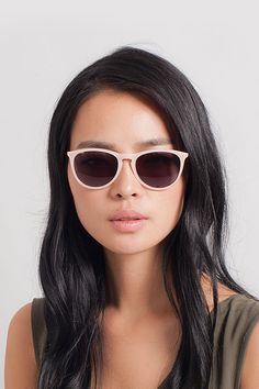 7b97e267ec30 Interlude Light Pink Plastic Sunglasses from EyeBuyDirect. A fashionable frame  with great quality and affordable