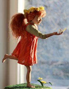 Orange summer. Living Doll OOAK handmade doll ...