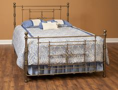 Antique Gold Metal Bed | Brian's Furniture