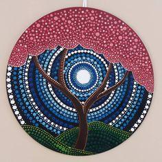 Image may contain: 1 person Mandala Artwork, Mandala Painting, Vinyl Record Art, Vinyl Art, Mandala Dots, Mandala Pattern, Dot Art Painting, Stone Painting, Kunst Der Aborigines