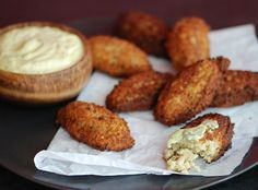 Quinoa Fritters from Bon Appetit make a delicious appetizer or tailgate treat.