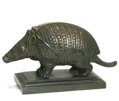 Bronze Armadillo Inkstand c1880-1890