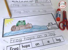 KINDERGARTEN WRITING - cut and paste build a sentence worksheets - FREEBIES #kindergarten #kindergartenwriting
