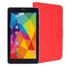 Maxwest Nitro Phablet 71 1.2GHz Dual-Core 512MB 8GB 7 Touchscreen Unlocked 4G Dual-SIM Phone/Tablet Android 4.4 (Red)