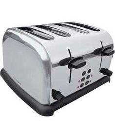 Cookworks 4 Slice Toaster - Stainless Steel.