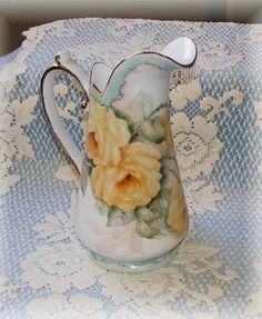 yellow rose pitcher by Priscilla
