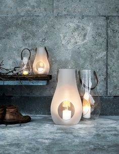 "Holmegaard Design is known for their glassworks since 1825! ""Design with Light Lanterns by Maria Berntsen""  #danishdesign #danishdesignicons"