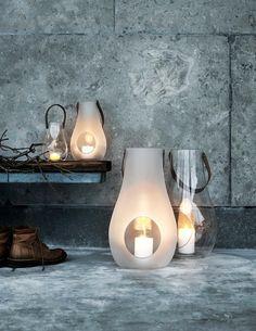 "Holmegaard Design is known for their glassworks since 1825! ""Design with Light Lanterns by Maria Berntsen""  #danishdesign #danishdesignicons"