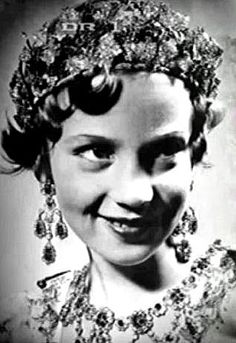 Princess Benedikte wore this tiara as a young girl for a family play.