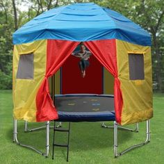 21 Best Trampoline Tops Images Trampoline Tent Backyard