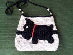 Crochet Scottie Dog handbag purse... created by Danita