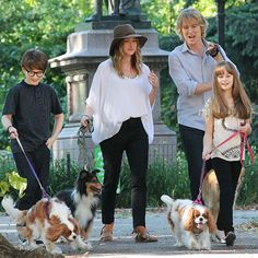 Owen Wilson and Kathryn Hahn film a scene on the set of Squirrels to the Nuts in Central Park in New York on July 16. Who gets to scoop the poop? Owen, it's your turn!