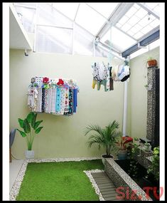 Beautiful Courtyard and Backyards Fundamentals Explained - onlyhomely Laundry Room Design, Home Room Design, Home Interior Design, Living Room Designs, Minimalist House Design, Minimalist Home, Outdoor Laundry Rooms, Small Balcony Decor, Backyard House