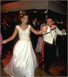 The Royal Order of Sartorial Splendor: Wedding of Prince Abdullah of Jordan and Rania al Yassin, now King and Queen of Jordan, June 10, 1993-the reception.