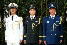 New Chinese Military Uniforms, made in USA Military Men, Military History, Army Dress Uniform, Navy Uniforms, Military Uniforms, Mao Zedong, Royal Canadian Navy, People's Liberation Army, New Chinese