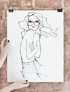 Limited edition of 75 signed art prints. About Garance Doré is a fashion…