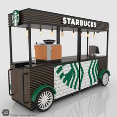 Coffee Box, Coffee Carts, Coffee And Books, Food Cart Design, Food Truck Design, Kiosk Design, Cafe Design, Coffee Food Truck, Mobile Food Cart