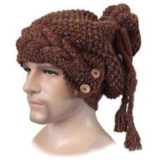 Chunky knit Dreadlock beanie hat in Llama by JackBentleyKnitwear