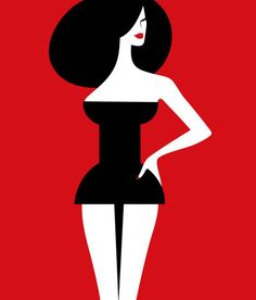 Noma Bar ~ pin up   ...  (took me a while to see it)