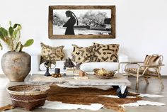 INTERIOR, LIVING ROOM, HOME DECOR, DECORATING, WORLDLY, ECLECTIC, ETHNIC, ANIMAL