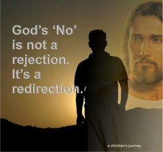 God's no is a redirection