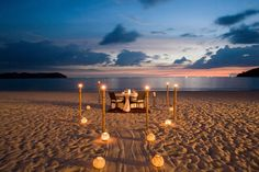 Multiple opcions can offer for you to have a romantic beach dinner the Casa del Mar - Langkawi, Malaysia Romantic Beach, Romantic Vacations, Romantic Places, Beautiful Places, Romantic Destinations, Romantic Things, Romantic Ideas, Romantic Travel, Amazing Places