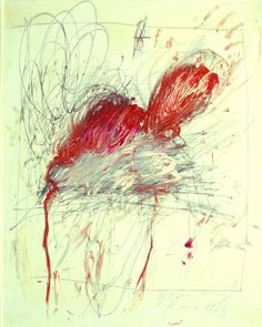 Cy Twombly.  See The Virtual Artist gallery: www.theartistobjective.com/gallery/index