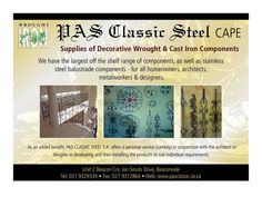 Visit my showroom in Parow South Africa Stainless Steel Balustrade, Metal Working, Showroom, South Africa, Beautiful, Classic, Design, Derby, Metalworking