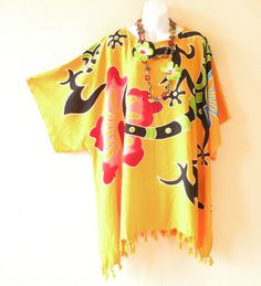 Kimono Plus Size Gecko Floral Caftan Kaftan Tunic Blouse Top - 2X, 3X, 4X & 5X by EtrendyCollection on Etsy