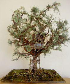 Miniature tree house.