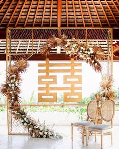 Modern Chinese Wedding Banquet Decorations, Wood D Wedding Backdrop Design, Ceremony Backdrop, Tea Ceremony, Chinese Wedding Decor, Oriental Wedding, Banquet Decorations, Wedding Decorations, Wedding Deco Ideas, Chinese Decorations